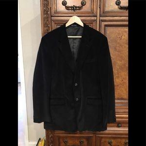 Alan Flusser Black Corduroy 42 L Jacket